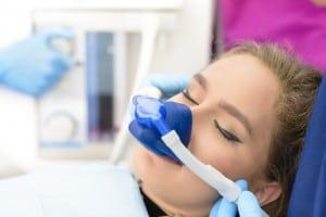 Woman Using Inhalation Sedation