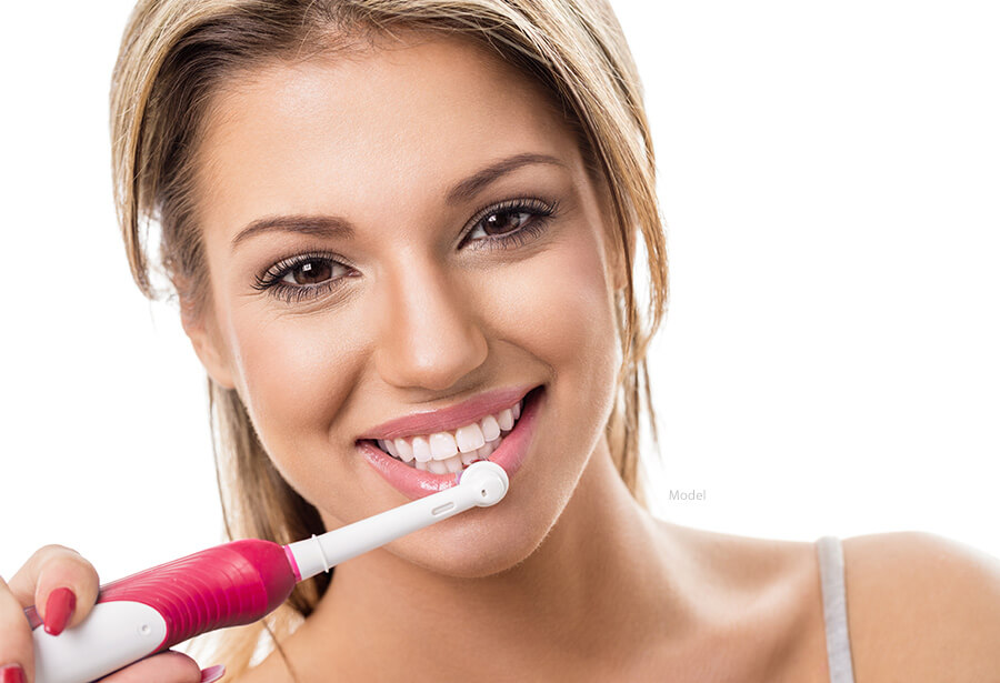female model for electric toothbrush
